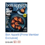 Free 4-Month Magazine Subscriptions for Amazon Prime Members