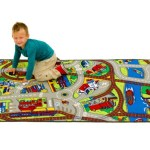 Amazon: Learning Carpets Ride the Train Rug only $14.18 (regularly $49.99)
