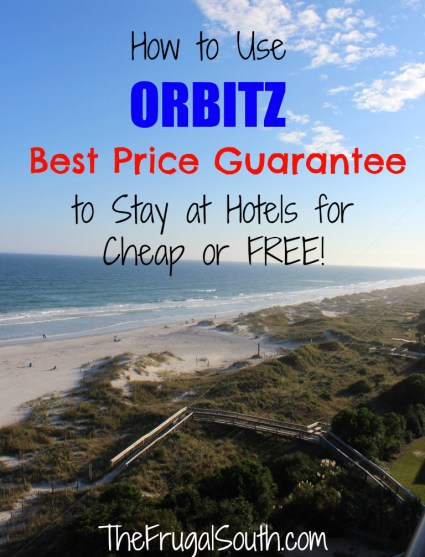 How to use Orbitz Best Price Guarantee to stay at hotels for cheap or free pinterest image