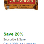 Amazon: New 20% off Larabar Coupon – Bars as low as $0.61 each