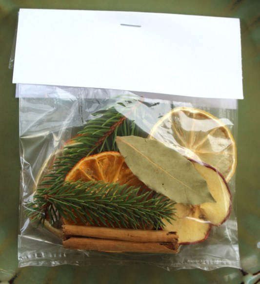 ingredients in a plastic treat bag
