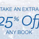 Amazon: Extra 25% off Any Book