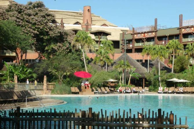 pool area at Disney's Animal Kingdom Lodge Jambo House