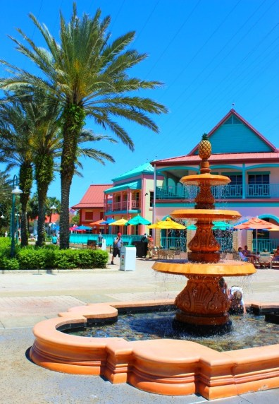 fountain at Disney's Caribbean Beach Resort