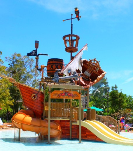 Pirate ship playground at Disney's Caribbean Beach Resort