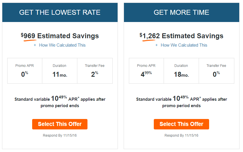 discover card balance transfer savings offers