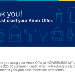 Amex Offers: Save up to $50 on Your Verizon Wireless Bill!