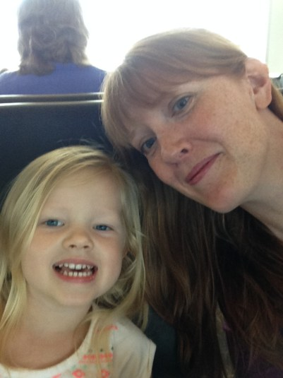 mommy daughter airport selfie