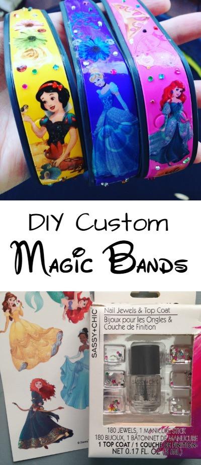 DIY Custom Magic Bands Pinterest Image