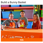 FREE Home Depot Kids Workshop: Build A Bunny Basket on April 1st