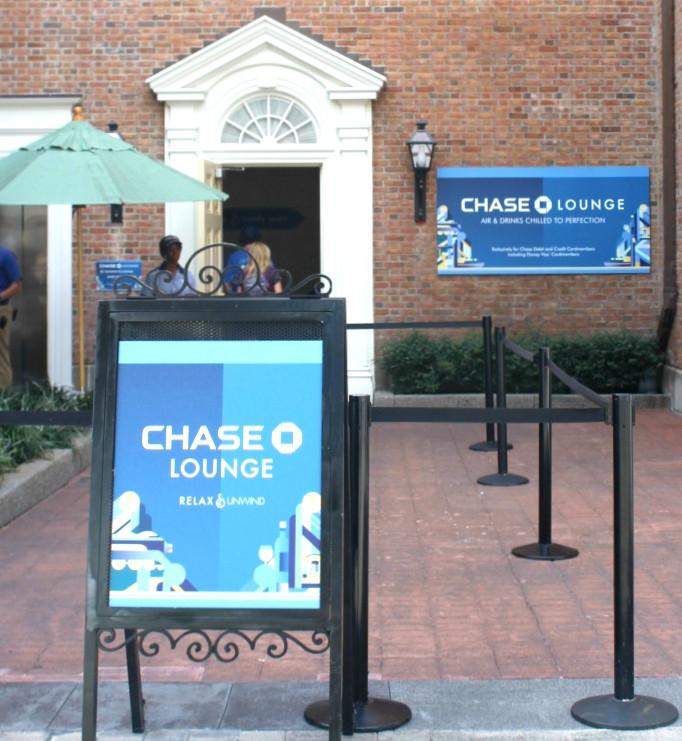 chase lounge entrance