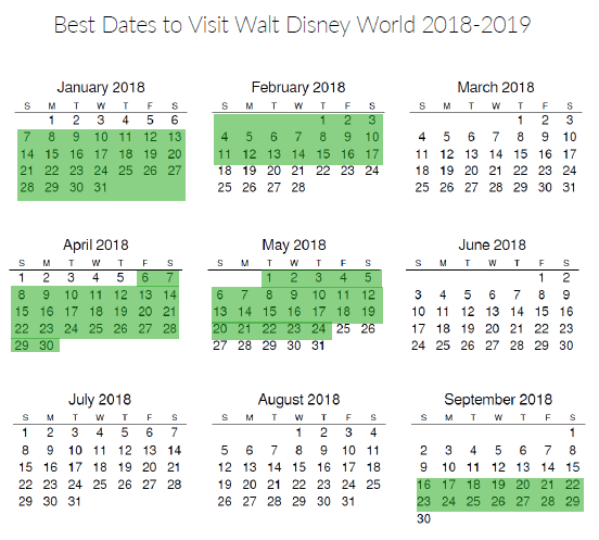 The best time to go to disney world printable 2018 2019 calendar the best time to go to disney world in 2018 and 2019 get the best publicscrutiny Images