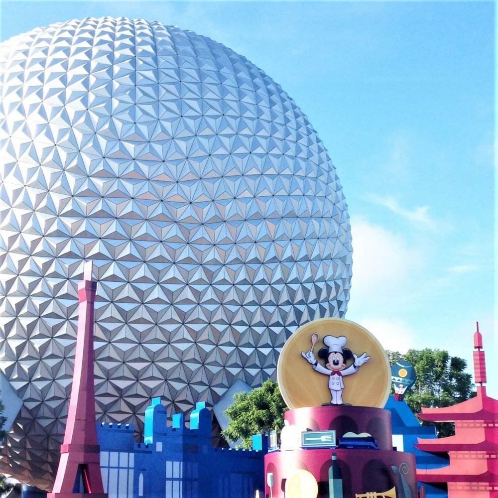 Epcot's Spaceship Earth during Food & Wine Festival