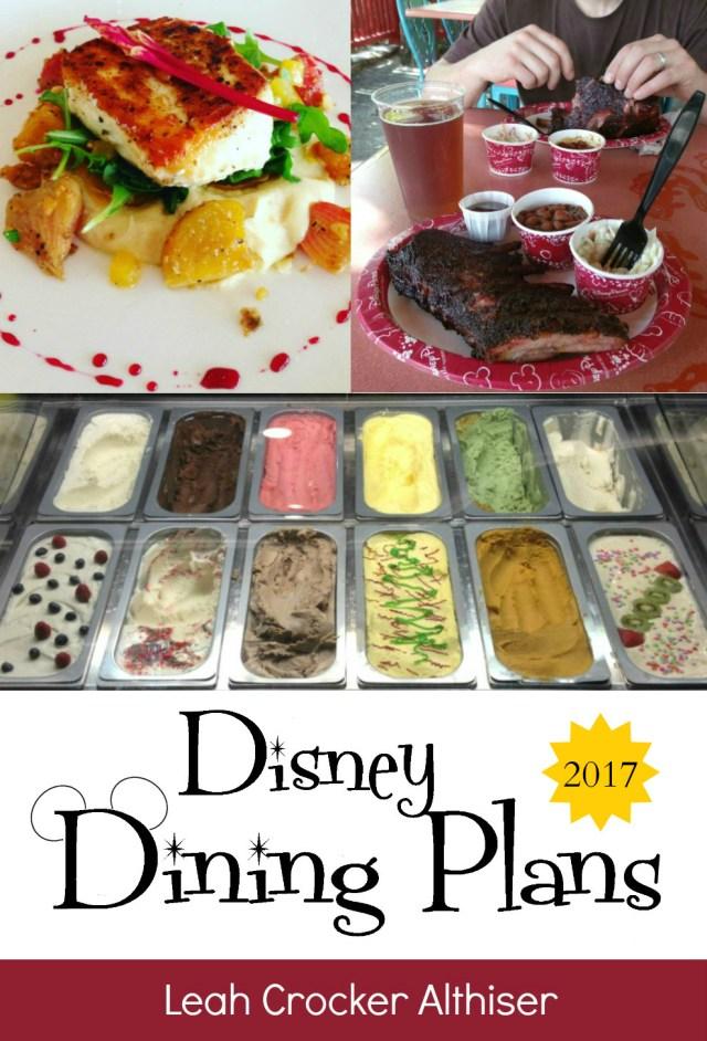 Disney Dining Plans 2017