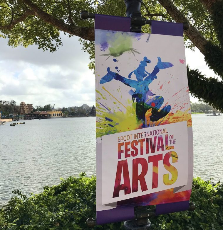 Festival of the Arts sign in epcot