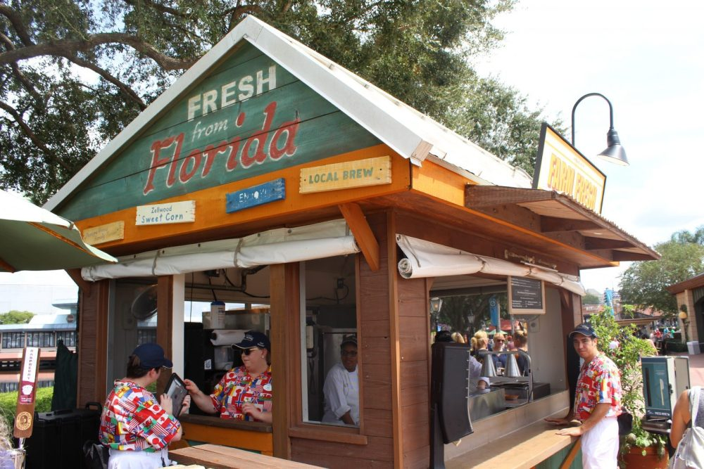 fresh from florida booth in Epcot