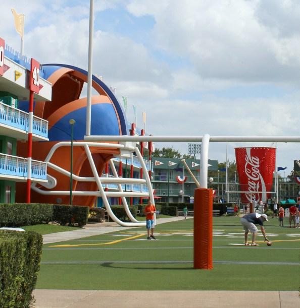 disney all star sports resort football field area