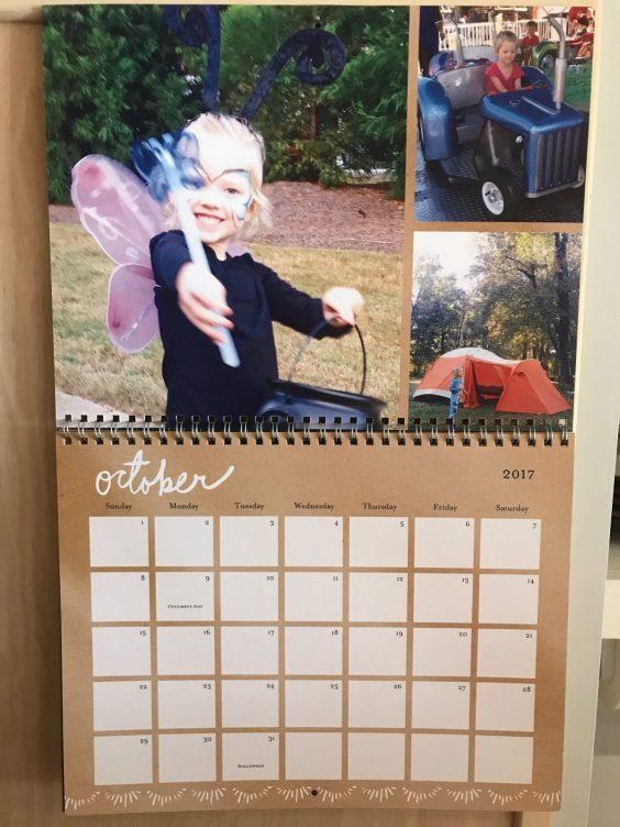 Shutterfly photo calendar