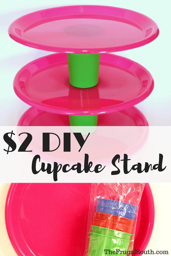 Easy Dollar Tree Cupcake Stand - The Frugal South
