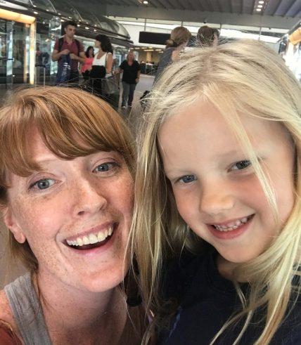 Mommy Daughter Airport Selfie