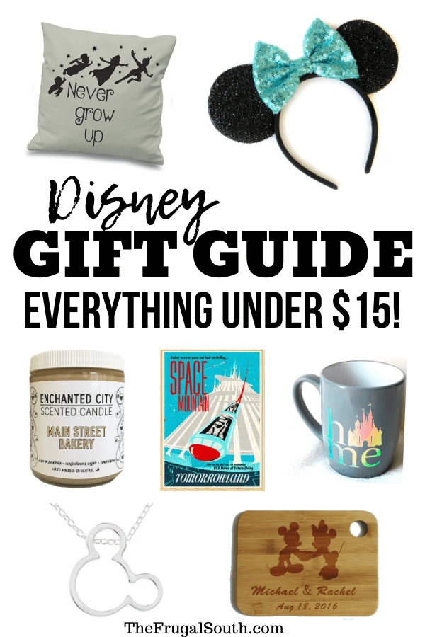 The perfect Disney gifts for adults - all under $15 each! The best Disney gift guide if you are on a budget. All presents support creators on Etsy. #disneyworld #giftguide #disneygifts