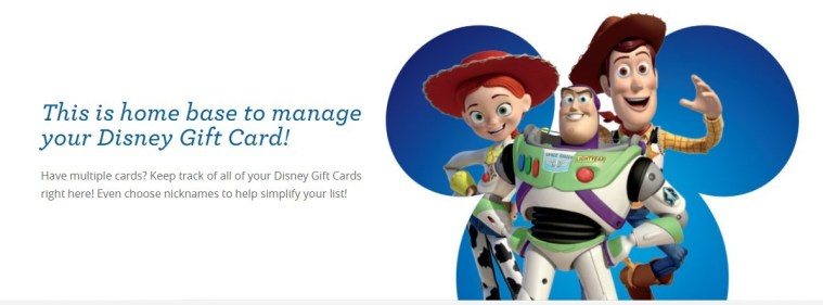 managing disney gift cards