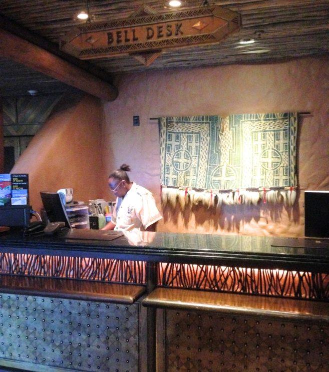 bell services desk at DIsney's Animal Kingdom Lodge