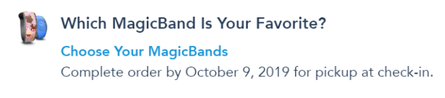 choose your magic bands disney in my disney experience