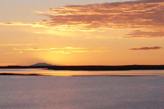 the midnight sun in iceland in june