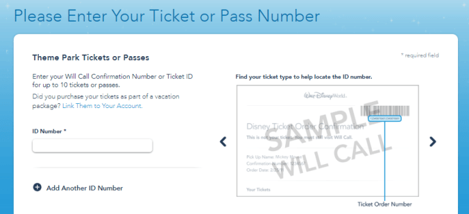 linking your disney tickets to your account online