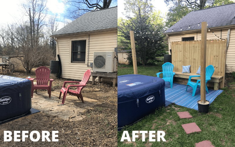 Backyard Ideas On A Budget Our 160 Diy Patio Makeover The Frugal South