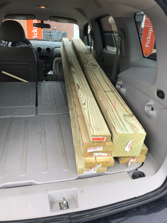 hauling lumber home