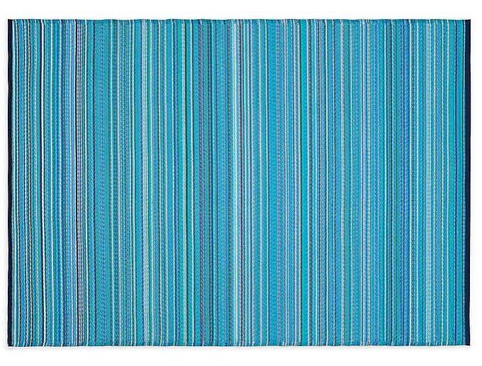 blue indoor/outdoor mat
