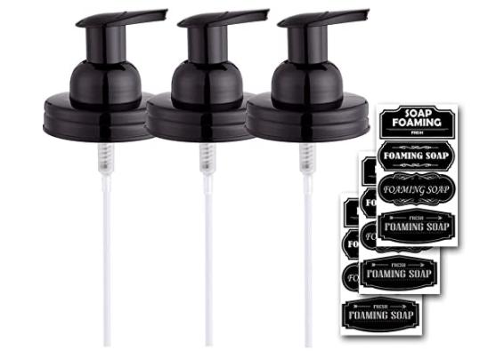 foaming soap dispenser lids from amazon