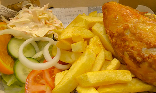 the fryery chip shop chicken and chips
