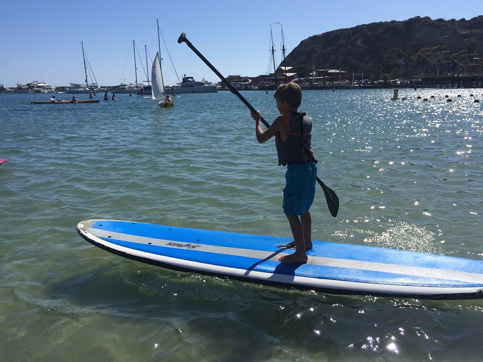 Bobby on a SUP