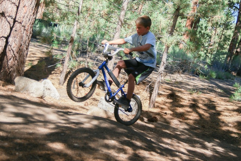 Bobby jumping his bike on Big Bear Mountain