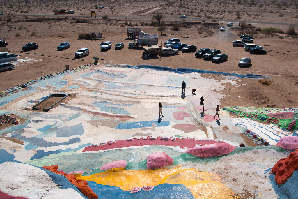 The view from the top of Salvation Mountain