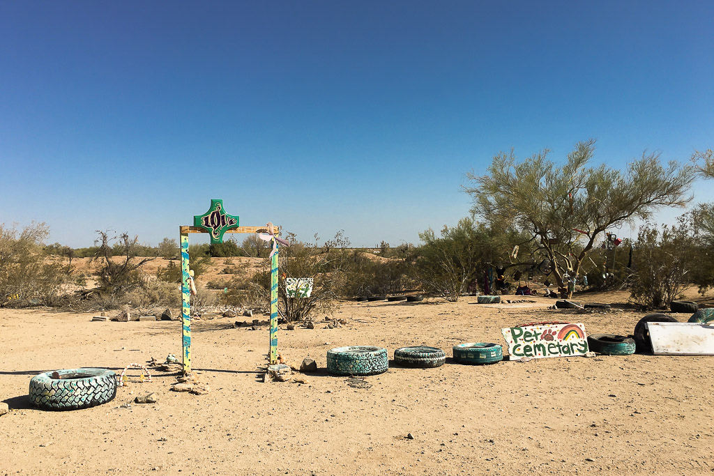 The Pet Cemetery of Slab City