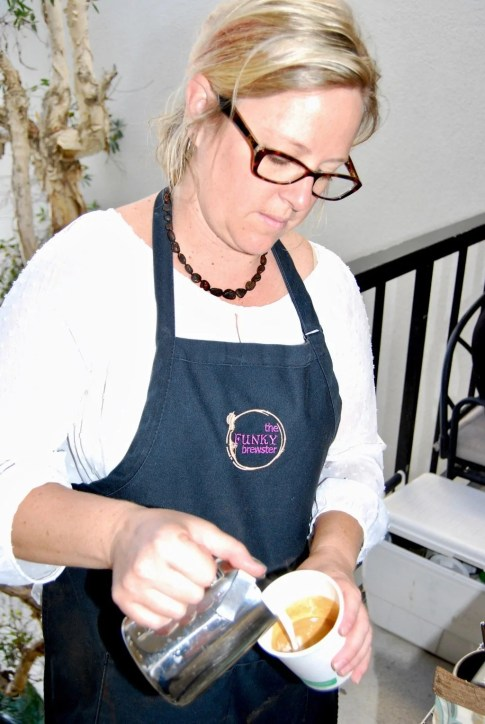 nicki mcdonald orange county barista pouring latte closeup - nicki-mcdonald-orange-county-barista-pouring-latte-closeup - The Funky Brewster Coffee Catering