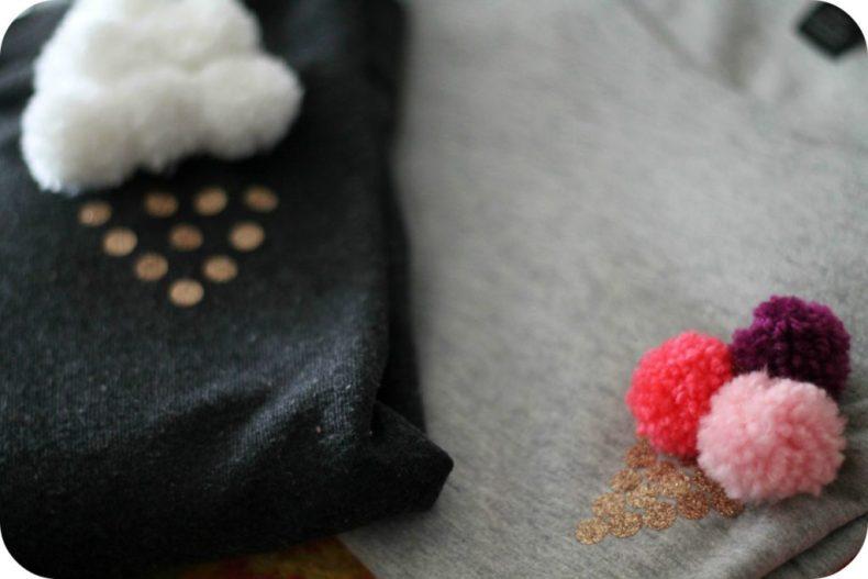 DIY sweat à pompons