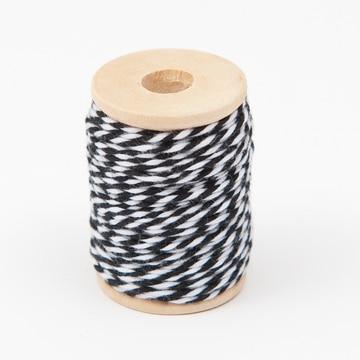 Fil de coton blanc / noir - Rico Design - The Funky Fresh Project