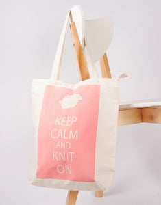 Sac tricot Rose Sheepbag Phildar - The Funky Fresh Project
