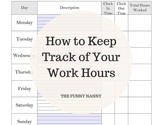 keeping track of working hours as a nanny can be possible with use of sheet, apps and being mindful of other simple, but useful tricks. Check out here for more info about nanny life