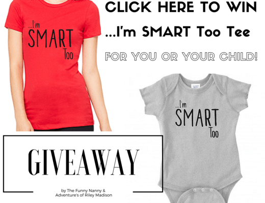 I'm smart too is a campaign that reminds us it's not all about our looks, but you can still be darn cute (and smart too) if you win this tee for yourself or for your child. Enter now The Funny Nanny's giveaway and win this tee!!