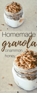 Granola, homemade granola, homemade granola recipe, granola recipe, cinnamon granola recipe, honey granola recipe, sugar free granola recipe