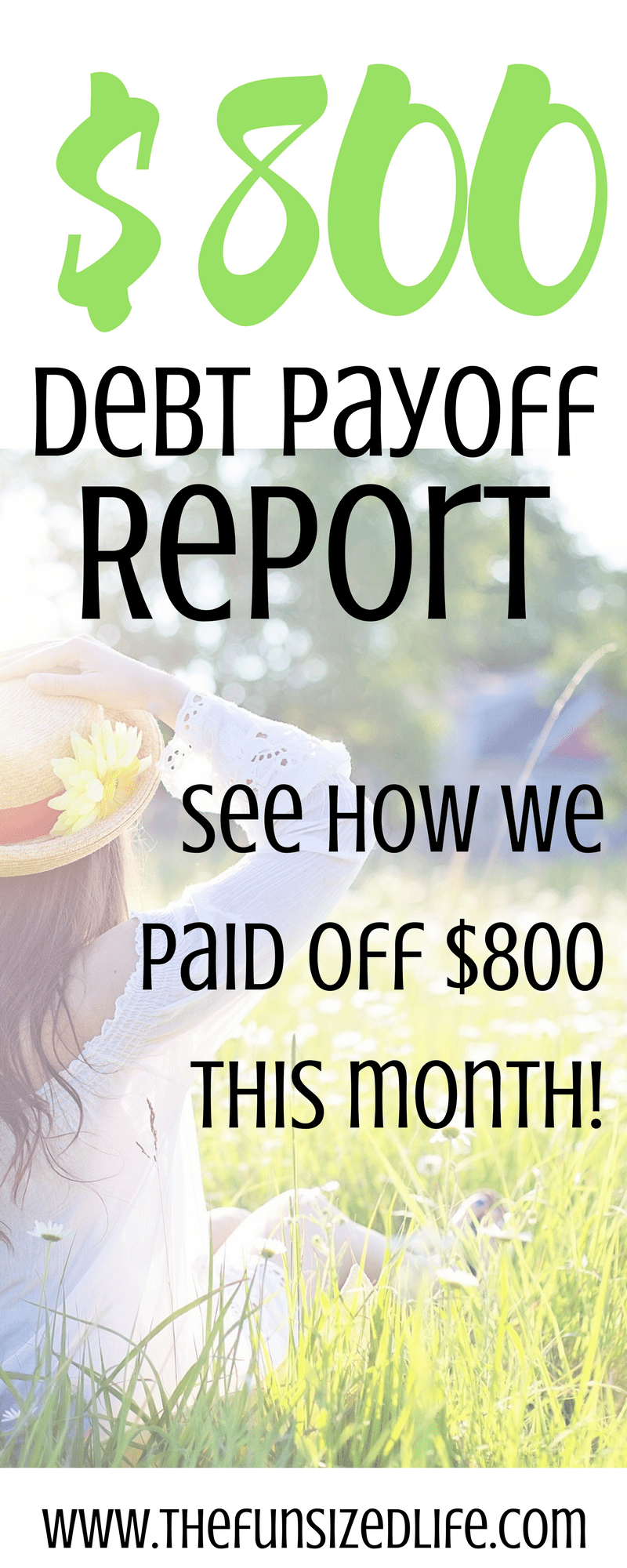 See how we paid off $800 of debt this month!