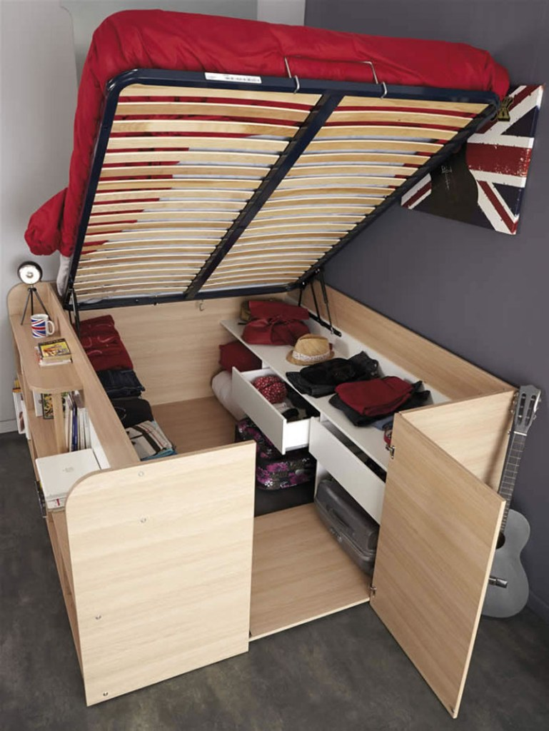 There are many ways to create space in a tiny home. Take some of these small space storage solutions and make them fit your small space.