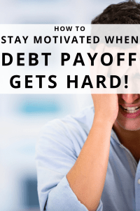 Sticking to a debt payoff plan gets hard! It can be tough to stay motivated when it comes to the debt snowball or other debt payoff. Here is how to survive. #debtpayoff #getoutofdebt #payoffdebt #debt #debtsnowball