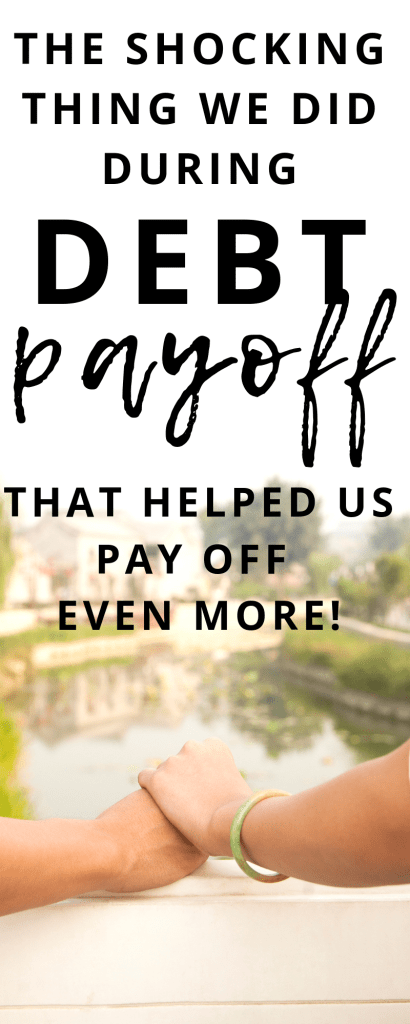 If you are in debt payoff mode, you may not have considered tithing while in debt. There is a surprising reason we did tithe while still in debt. See why...